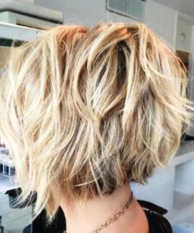 Bronde Bob Piecey Layers Hair Cut
