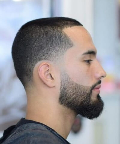 Buzz Cut Hair Style with Beard