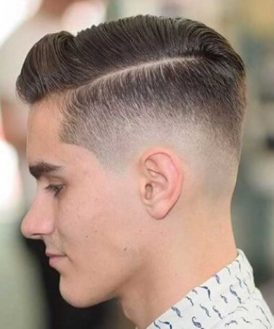 Comb Over High Fade Cut