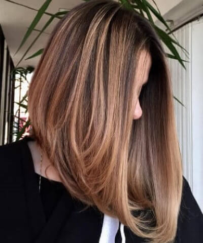 Long Inverted Bob Hair Cut