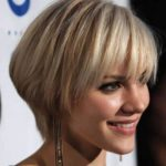 Pop colored bob cut