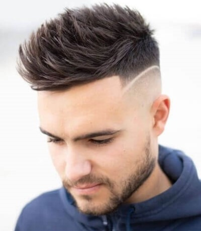 High Fade Spiky Hair Cut