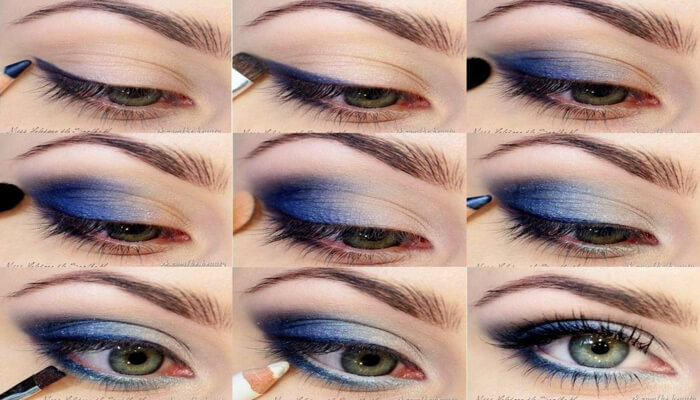 Deep-blue-eye-makeup-natural-eye-shadow