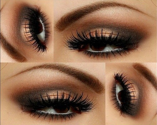 Gold-festive-eye-makeup-natural-eye-shadow